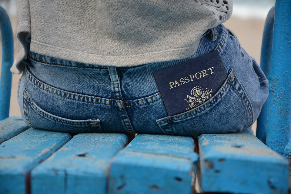 Passport in back pocket